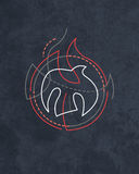 Holy Spirit religious symbol. Hand drawn illustration or drawing of a contemporary religious symbol of the Holy Spirit Stock Photo