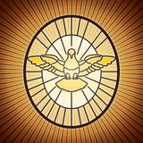 Holy spirit saint peter rome stock image