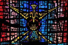 Holy Spirit Staing Glass window. Image of a stiaind glass windo representing the holy spirit Royalty Free Stock Photos