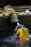 Holy Spring. At Tampaksiring, Bali Royalty Free Stock Photography