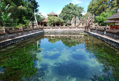 HOLY SPRING IN BALI TEMPLE Royalty Free Stock Images