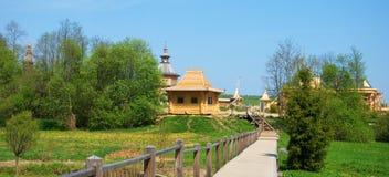 At the holy spring Gremyachiy key Stock Photos