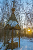 The Holy spring of the mother of God joy of All who sorrow. Holy spring of the mother of God joy of All who sorrow. The village Sobolevo, Teykovo district of Royalty Free Stock Image