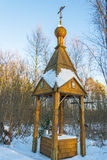 The Holy spring of the mother of God joy of All who sorrow. Holy spring of the mother of God joy of All who sorrow. The village Sobolevo, Teykovo district of stock photography