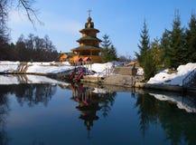 Holy Spring St. Seraphim of Sarov royalty free stock photos