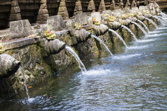 Holy spring water in Bali Stock Image