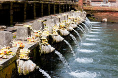 Holy spring water in tirta empul Royalty Free Stock Photos
