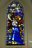 Holy stainglass window Stock Image