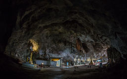 Holy Statue of Saint Paul inside the underground cave Royalty Free Stock Images