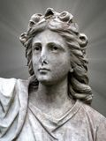 Holy statue of woman. A very old statue of a woman from the year 1850. Her nose is broken off. Very spiritual look Stock Photos