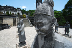 Holy statues - Samurai. Samurai statues at the emperer´s thomb. Hue, Vietnam Stock Photography