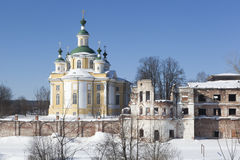 Holy Sumorin monastery and Church of the Ascension Royalty Free Stock Photography