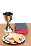 Holy supper with white background Royalty Free Stock Images