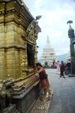 Holy temple in Kathmandu, Nepal Royalty Free Stock Photography