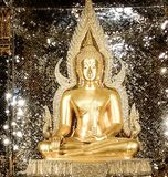 Holy thing. Gold temple monk royalty free stock image