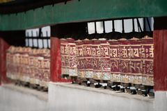 Holy tibetan prayer wheels Royalty Free Stock Photography