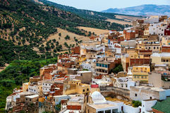 Holy town of Moulay Idriss Royalty Free Stock Photos
