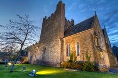 Holy Trinity Abbey church. In Adare at night, Ireland Royalty Free Stock Photography