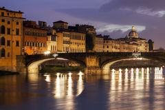 Holy Trinity Bridge in Florence Stock Photography