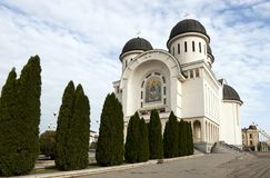 Holy Trinity Cathedral in Arad. Holy Trinity Orthodox Cathedral in Arad Royalty Free Stock Image