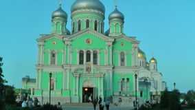 Holy Trinity Cathedral. Diveevo. Russia stock footage
