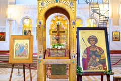 Holy Trinity Cathedral interior. Tbilisi Royalty Free Stock Image