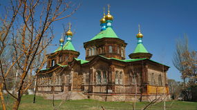 The Holy Trinity Cathedral in Karakol Royalty Free Stock Photo