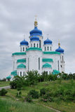 Holy Trinity Cathedral. Kiev, Troyeshchina. The place to serve God. The architecture of Kiev Stock Photography