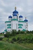 Holy Trinity Cathedral. Kiev, Troyeshchina. The place to serve God. The architecture of Kiev Royalty Free Stock Photo