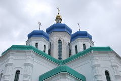 Holy Trinity Cathedral. Kiev, Troyeshchina. The place to serve God. The architecture of Kiev Stock Image