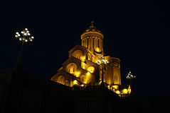 Holy Trinity Cathedral. Night view Royalty Free Stock Images