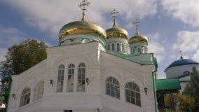 Holy Trinity Cathedral. Raifa Bogoroditsky Monastery, Kasan, Tatarstan, Russia. Kazan, Russia - September 24, 2017. Holy Trinity Cathedral. Raifa Bogoroditsky stock footage