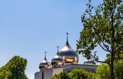 Holy Trinity Cathedral and The Russian Orthodox Spiritual. And Cultural Center in Paris Royalty Free Stock Image