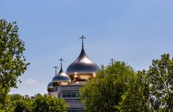Holy Trinity Cathedral and The Russian Orthodox Spiritual. And Cultural Center in Paris Stock Images
