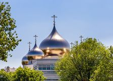 Holy Trinity Cathedral and The Russian Orthodox Spiritual. And Cultural Center in Paris Royalty Free Stock Photography