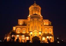 Holy Trinity Cathedral (Sameba), Tbilisi Stock Image
