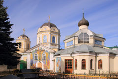 Holy Trinity Cathedral in Simferopol city. Holy Trinity Cathedral is one of the main attractions of the historic city center. The cathedral contains the relics Stock Image