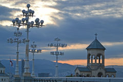 Holy Trinity Cathedral of Tbilisi Stock Image