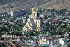 Holy Trinity Cathedral in Tbilisi, Georgia Stock Images