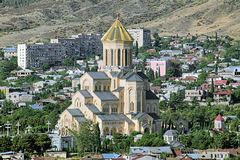 Holy Trinity Cathedral of Tbilisi, Georgia Royalty Free Stock Images