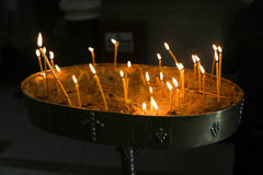 Hoy Candles in the Church Royalty Free Stock Photo