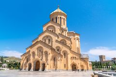 Holy Trinity Cathedral of Tbilisi Sameba - the main cathedral of the Georgian Orthodox Church located in Tbilisi, the capital of. Georgia, religious stock images