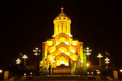 Holy Trinity Cathedral of Tbilisi Sameba Stock Images
