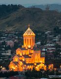 Holy Trinity Cathedral of Tbilisi. The Holy Trinity Cathedral of Tbilisi was completed in 2004 to celebrate the 2000 years since the birth of Jesus Christ and stock image
