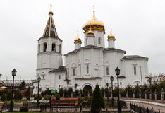 Holy Trinity Cathedral of Tyumen. Trinity Monastery, Siberia, Russia royalty free stock images
