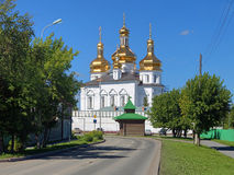Holy Trinity Cathedral of Tyumen Trinity Monastery, Russia Royalty Free Stock Images