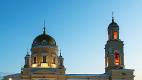 Holy Trinity Cathedral, Yekaterinburg.  Time Lapse stock video
