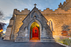 Holy Trinity church. Holy Trinity Abbey church in Adare at night, Ireland Royalty Free Stock Photos