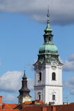 Holy Trinity church bell-tower. In town of Karlovac, Croatia, Europe Royalty Free Stock Images