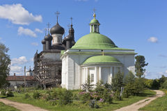 Holy Trinity Church and cathedral Christ Resurrection at the Goritsy Monastery of Resurrection Vologda region Royalty Free Stock Images